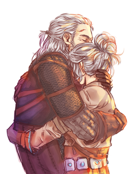 Father and Daughter by Inain1
