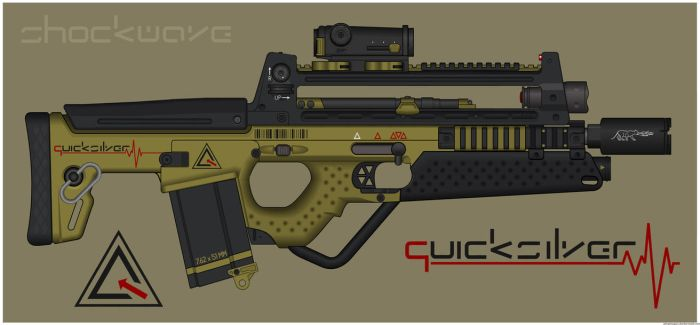 Quicksilver Industries: 'Bobcat' Assault Rifle by Shockwave9001