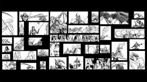 Dark Souls drawing collage by MenasLG