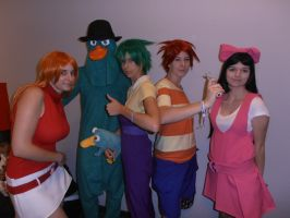 Abunai 2011: Phineas and Ferb by Merietje