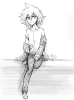 Komaeda Pencil Sketch by firehorse6