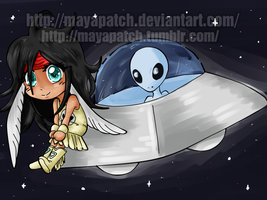 Chibi Alien! by MayaPatch