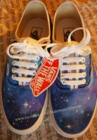 GALAXY Vans! painted shoes by karka17