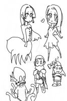 Chibi dungeons and dragons by Gloommix