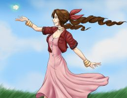 Aerith- Summer Breeze by wallabri