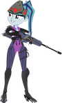Sonata as Widowmaker [Overwatch] by sonofaskywalker