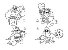 CONCEPT ART: KOoD - King Dedede's Abilities 1 of 2 by ChronoWeapon