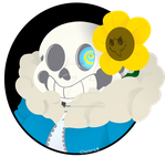 Sans and Flowey by RottingRoot