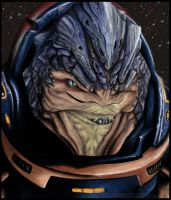 Grunt the Krogan by EwelinaMalke