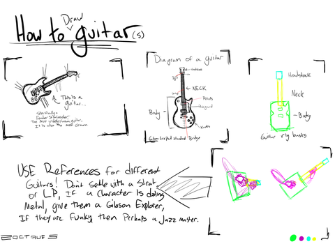 How To: Draw a guitar by 2Octaves