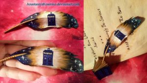 Doctor Who - TARDIS feather by AnastasiyaKosenko