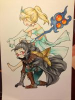 Collab Commission: Vayne and Janna by dannyyiu