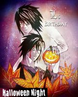 Halloween Night with L and B by Miruna-Lavinia