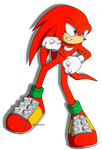 Knuckles The Echidna by BloomPhantom
