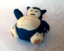 Needle Felted Snorlax! by StarlitCutesies