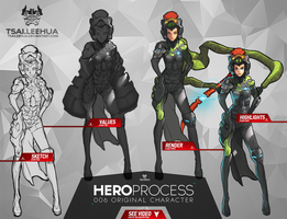 006 OC Hero Process by tsaileehua