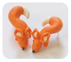 Fox earrings by BadgersBakery