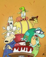 Happy 20th Rocko! by Johansrobot