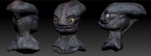 3D alien head by Jundallah