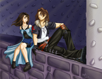 KH2: Leon and Rinoa by lethalfairy