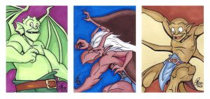 ACEO set of the Trio by Kanthara