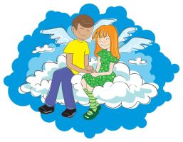 Love on the cloud vector by jkBunny