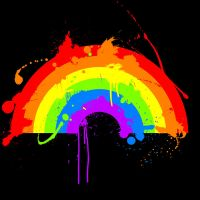 Rainbow Splatter'D by Evanescere