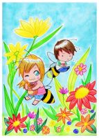 Honey and the Bee. by Susutastic