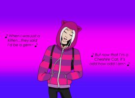 Lauren in Cheshire Cat hoodie2 by ChaseYoungFangirl