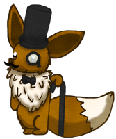 (Charity Collab) - Fancy Eevee by Renkindle