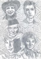 Eleven Doctors Diptych 2 by theterriblezodin