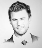 Chris Hemsworth by FromPencil2Paper