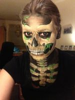 Skeleton face paint (1) by GuitarMagic