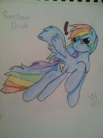 Rainbow Dash - Colored Pencil '!' by Zilford-the-legend