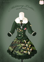 Military Lolita Winter Dress by Neko-Vi
