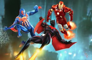 Beyond...- Batman Beyond, Spider-man 2099, Ironman by N3M0S1S