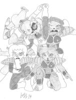 ALL TOGETHER! THE FURRY FORCE! by Limpurtikles