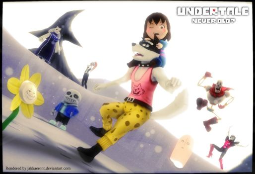Undertale Never Old? (3D) by Jakkaeront