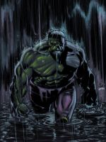 Lee Weeks Hulk colored by jharris