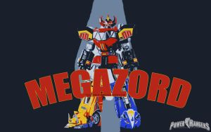 MMPR - MEGAZORD 2 by DesignsByTopher