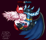 Abby and Bolin kiss by tigersylveon