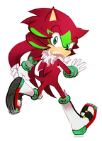 Solstice the Hedgehog by zazaKUN011