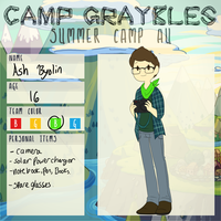 Camp Graybles : Ash by TheLittlehoneybee