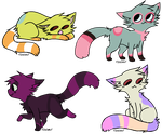 3 Point Cat Adopts - Open - 1 Left by OC-Handout