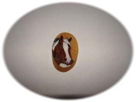 Hand painted wood horse pendant by jasmin7
