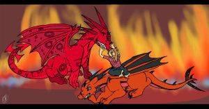 CE - Friendship's Fire by DragonBlueflame