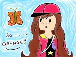 Luka - So Orange Butterfly- Adventure time OC by DaisyLovin