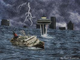 Tsunami At Seattle by SilentMobster42