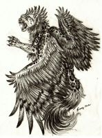 Winged Leopard sketch by Sunima