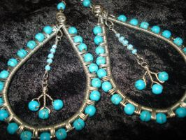 Amazonite Silver Teardrop Earrings by Toowired